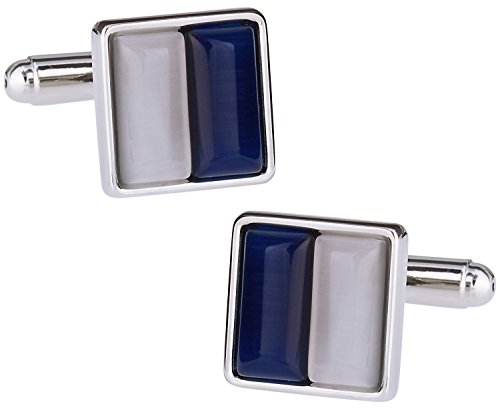 Navy Blue Square Cufflinks - 9