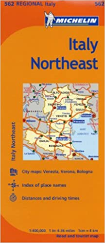 Michelin Italy Northeast Map 562 Maps Regional Michelin