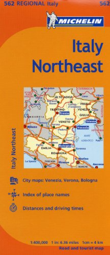 Detail Map - Michelin Italy:  Northeast Map 562 (Maps/Regional (Michelin))
