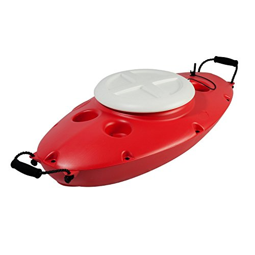 CK00210R Creek Kooler 30 Quart Floating Cooler-Cardinal Red