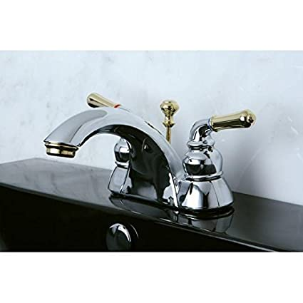 Two-tone Chrome and Brass Bathroom Faucet - - Amazon.com