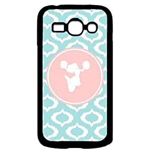 Be A Cheerl On Aqua Ikat Cute Hipster Aqua Silicon Bumper Samsung Galaxy Ace 3 i7272 Case - Fits Samsung Galaxy Ace 3 i7272