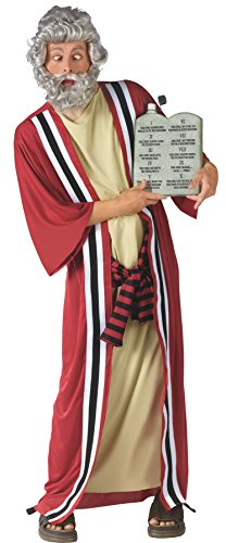 FunWorld Men's Moses & 10 Party Commandments Outfit Adult Fancy Costume, Plus -
