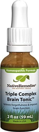 Native Remedies Triple Complex Brain Tonic, 2 Fluid Ounce