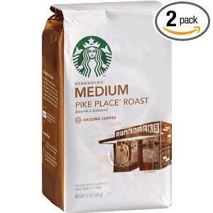 Starbucks Pike Place Roast Coffee Ground Medium Bags 12 OZ (Pack of 12) by Starbucks