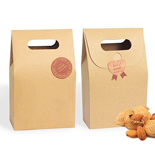 Saasiiyo 10 Pieces/lot Chocolate Box Kraft Paper Wedding Gift Ideas for Guests Packing Boxes Wedding Favor for Sweets Party Decorations - Costume Design Classes San Diego