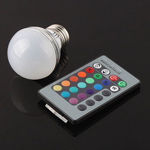 RGB Led Bulb Multicolors 20 COlors 3w - 5