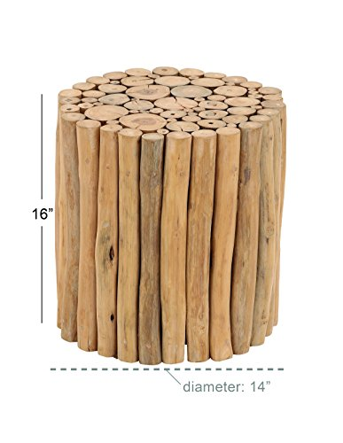 Deco 79 Teak Wood Foot Stool