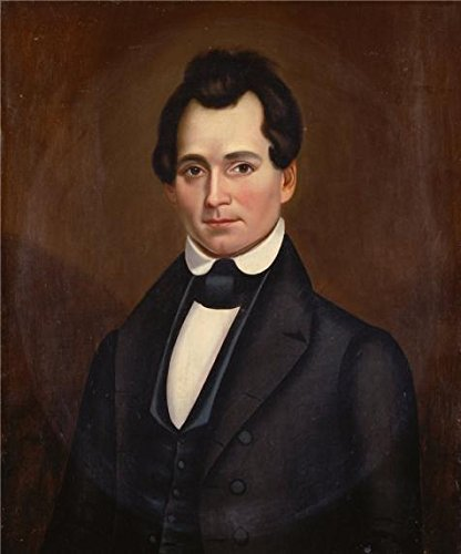 31 Photo Ink Cartridge (Oil Painting 'unknown,The Hon. Herman Allen Moore,ca.1844', 10 x 12 inch / 25 x 31 cm , on High Definition HD canvas prints is for Gifts And Basement, Bed Room And Powder Room Decoration)