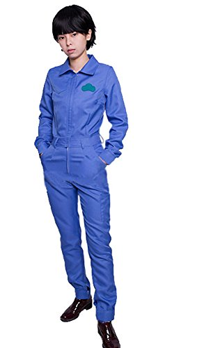 ROLECOS Womens Candy Color Long Sleeves Overall Jumpsuits Blue Asian Size M