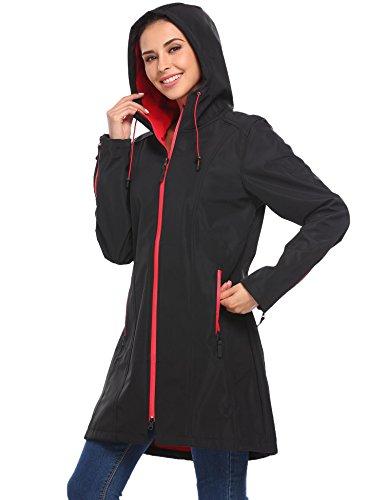 Mymotto 80143 uni s hiver avec coupe capuche b à manches longues femme Trench vent à coat manteau OutwearVeste oeWQdBrCx