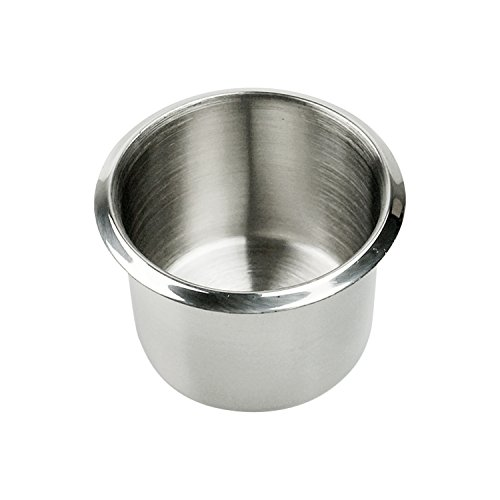 YH Poker Single Stainless Steel Drop-in Poker Table Cup Holders, Drink Holders, Small