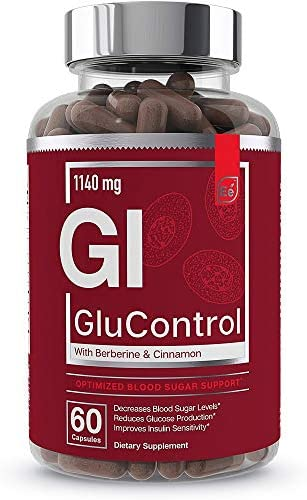 Blood Sugar Support Supplement with Ceylon Cinnamon and Berberine – Essential Elements GluControl 60 Capsules
