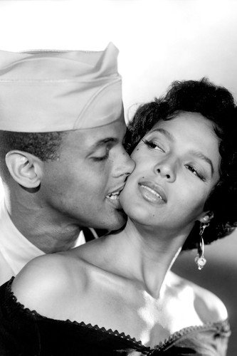 dorothy dandridge and harry belafonte in carmen jones romantic pose