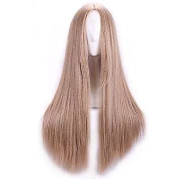 OOFAY JF® Pelucas de Cosplay barato natual rubia peluca sintética mujeres Anime peluca Cosplay cabello
