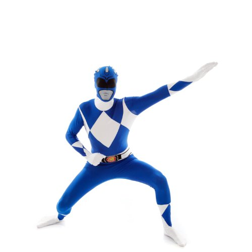 Official Blue Power Ranger Morphsuit Costume - size Xlarge - 5'10-6'1 (Blue Man Costume)