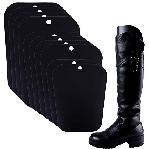 (Resinta 5 Pairs (10 Sheets) Boot Shaper Form Inserts Boots Tall Support for Women and Men (12/14/16 inches, Black))