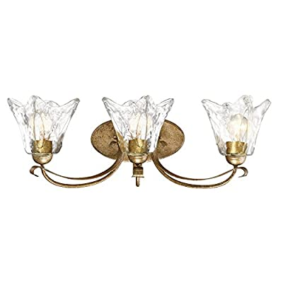 Millennium Lighting 7453-VG Millennium:Three Light Vanity Chatsworth 3-Light Bath Vanity In Vintage Gold