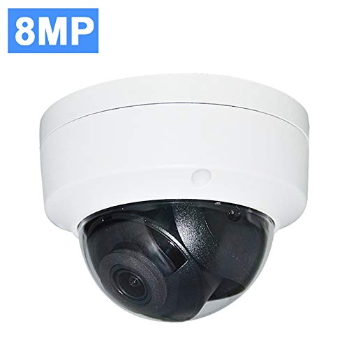 UltraHD 8MP 4K Outdoor PoE IP Camera OEM DS-2CD2185FWD-I 2.8mm Fixed Lens, Dome Network Security Camera, 3840 X 2160, up to 98ft IR Night Vision, Smart H.265+, SD Card Slot, WDR DNR, IP67 IK10, ONVIF