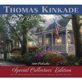 (Thomas Kinkade Painter of Light 2008 WALL Calendar Special Collector's Edition )