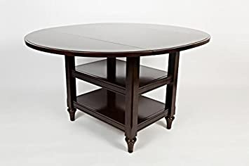 Boraam 22000 Harbor Cottage Drop Leaf Dining Table, Cappuccino