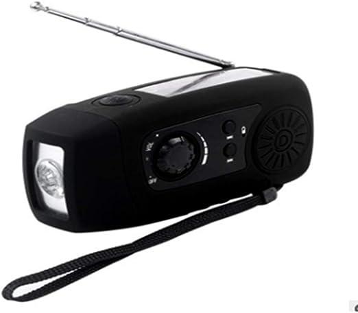 Emergency Solar Hand Crank Dynamo AM//FM Radio LED Flashlight Charger waterprof G