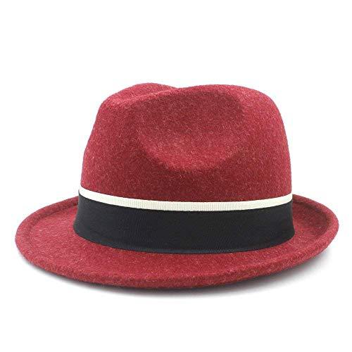 (Junson Lovely Trilby Fedora Hat for Elegant Lady Gentleman Trilby Felt Homburg Church British Derby for)
