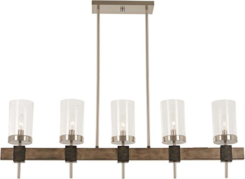 Minka Lavery Island Chandelier Mini Pendant Lighting 4635-106 Bridlewood Dining Room Fixture, 5-Light 300 Watts, Stone -