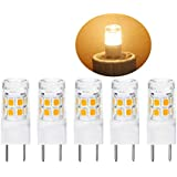 LED G8 Light Bulb 2.5 Watts Warm White G8 Base Bi-pin Xenon JCD Type LED 120V 20W Halogen Replacement Bulb for Under Counter Kitchen Lighting, Under-Cabinet Light.Pack of 5 (Warm White)