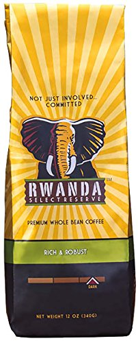 Westrock Coffee Company Rwanda Select Reserve Dark Roast Best Gourmet Whole Bean Coffee Blend  12 Oz  Bag
