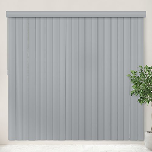 Chicology Cordless Vertical Blinds Patio Door Or Large Window Shade, 78″ W X 84″ H, Oxford Gray Vinyl)