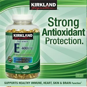 Kirkland Signature Vitamin E 400 IU, 500 Softgels (Pack of 2) (Total of 1000 Softgels)