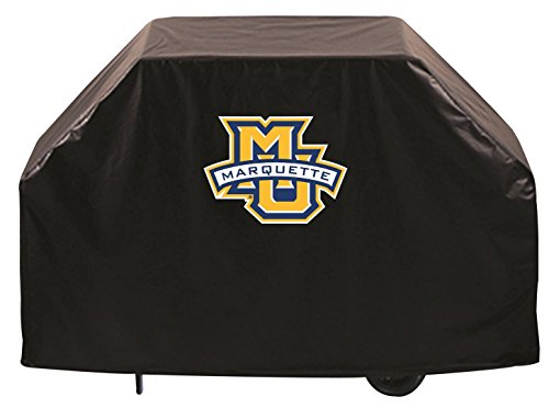 Holland Bar Stool Co. Marquette Golden Eagles HBS Black Outdoor Heavy Duty Vinyl BBQ Grill Cover (60