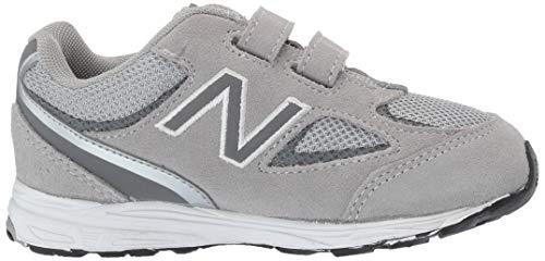 New Balance Boys' 888v2 Hook and Loop Running Shoe, Grey, 2 M US Infant by New Balance (Image #6)