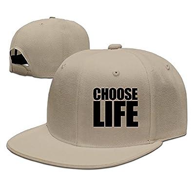 WellShopping Women Choose Life Solid Flat Bill Hip Hop Snapback Baseball Cap Unisex sunbonnet Hat.
