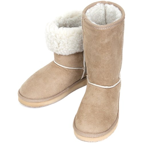Winter Fashionable Womens Basic Shearling Warm Shoes Boots Snow New Beige 6qxd06