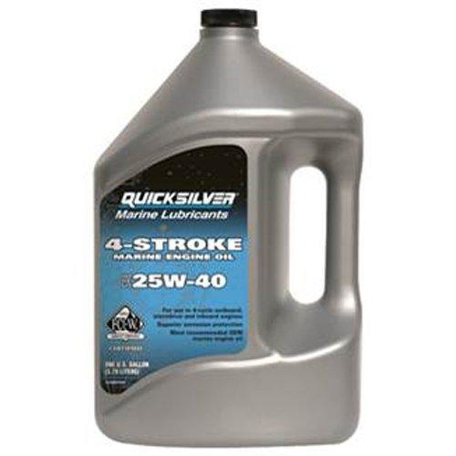 - QuickSilver 8M0078620 FC-W 4 Stroke 25W-40 Marine Engine Oil