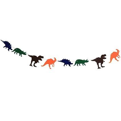 Amazon.com: SuxiDi - 1 guirnalda de dinosaurio colorido de ...