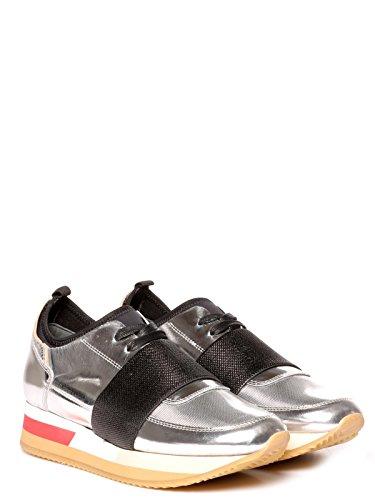 Cuero Plata Zapatillas Mujer Model Naldms04 Philippe 1tIqc