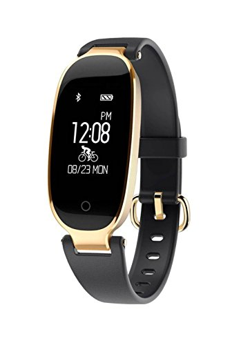 LEMFO S3 Fashion Smart Band Bracelet Girl Women. Heart Rate Monitor, Wrist Smart Wristband Lady Female, Fitness Tracker Wristband (Black)