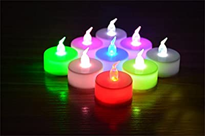 ELlight Battery Operated Candles Flameless LED Tealight Candles Votive Style Romantic Date