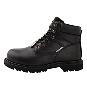 kingshow GW Men's 1606ST Black Steel Toe Work Boots 13 M US