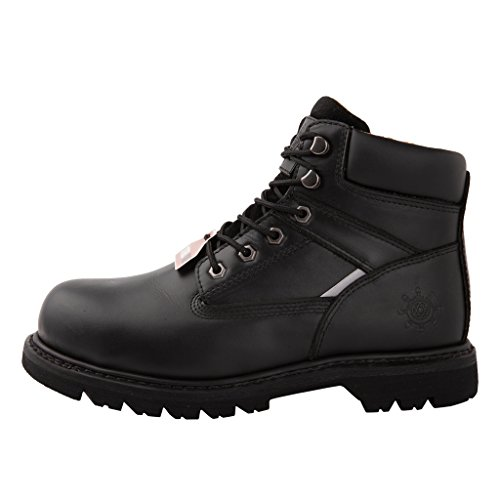 (GW Men's 1606ST Black Steel Toe Work Boots 10.5 M US)
