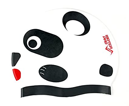 Water Pro Panda Silicone Swim Pool Cap for Adult and Kids - - Keep Hair 4df90c6d31a2