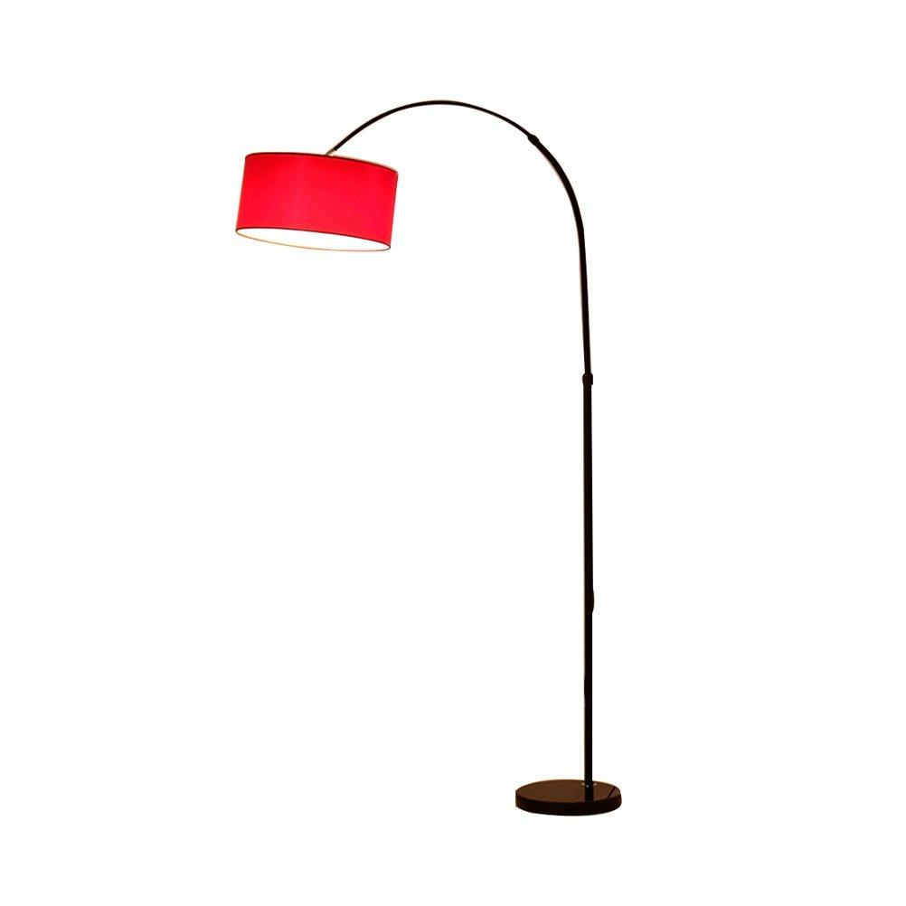 FORWIN Stehleuchte- Moderne Camber Hanging Shade Angeln Form Schwarz Stehlampe Marmor Base-Tall Pole Ständigen Industrial Up Light Downlight Lampe Innenbeleuchtung