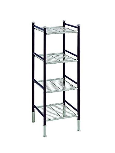 er Free Standing Bathroom Storage Tower, Chrome & Bronze ()