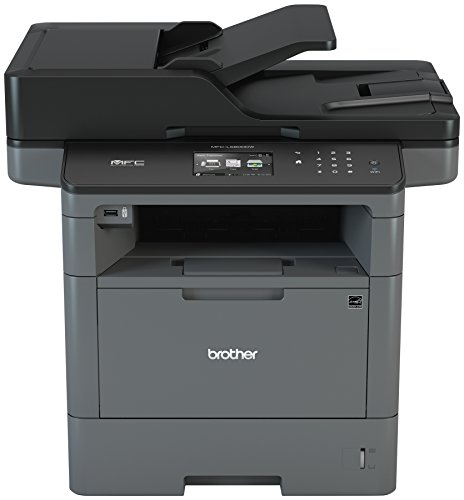 Brother Monochrome Laser Printer, Multifunction Printer, All-in-One Printer, MFC-L5800DW, Wireless Networking, Mobile Printing & Scanning, Duplex Printing, Amazon Dash Replenishment - Center Security Computer Mobile