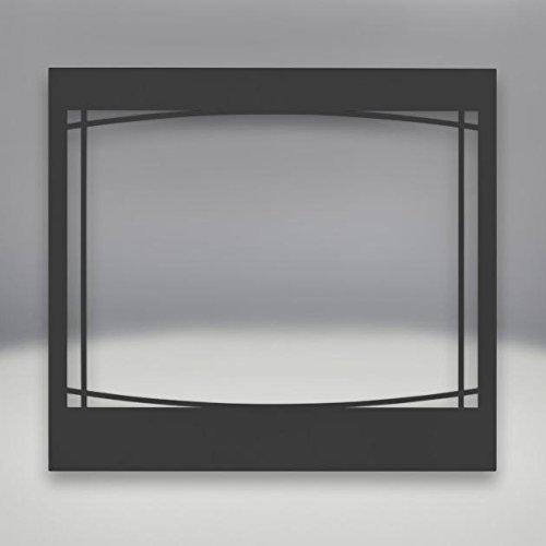 Black Napoleon Gas Stoves - Napoleon Black Zen Decorative Front For Ascent 36-inch Direct Vent Gas Fireplaces