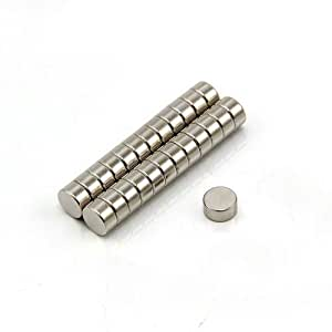 Magnet Expert - Imanes circulares para manualidades (neodimio resistente, 6 x 3 mm, 0,9 kg, 25 unidades)