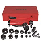 Professional 10 ton Hydraulic Metal Hole Puncher Press Driver Kit Tool Set - Red